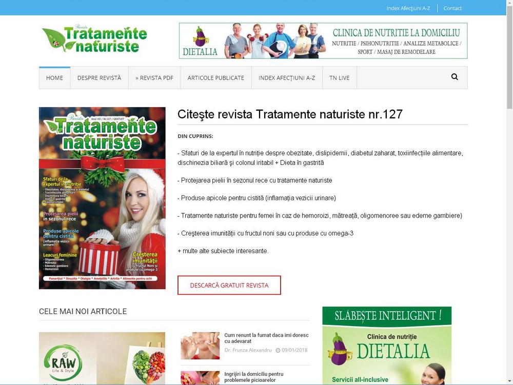 Creare site responsive Revista Tratamente naturiste