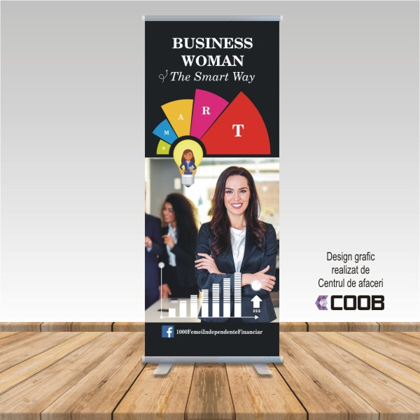 Rollup 0,8×2 m Business Woman the Smart Way