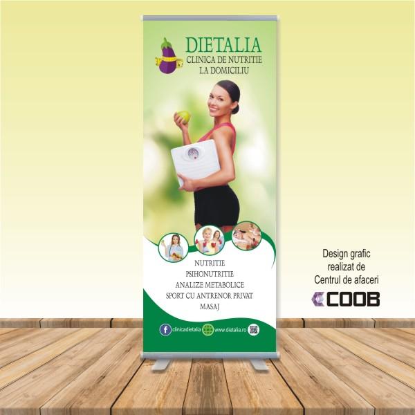 Rollup 0,8×2 m Clinica de nutritie Dietalia