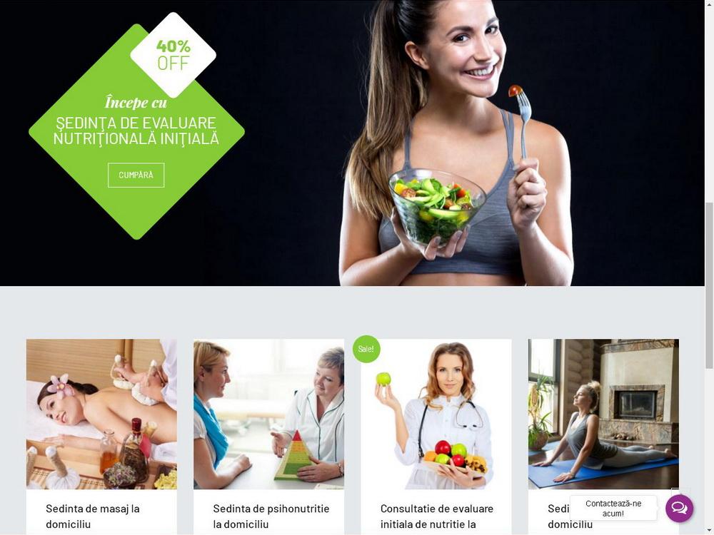 Site pentru clinica de nutritie Dietalia